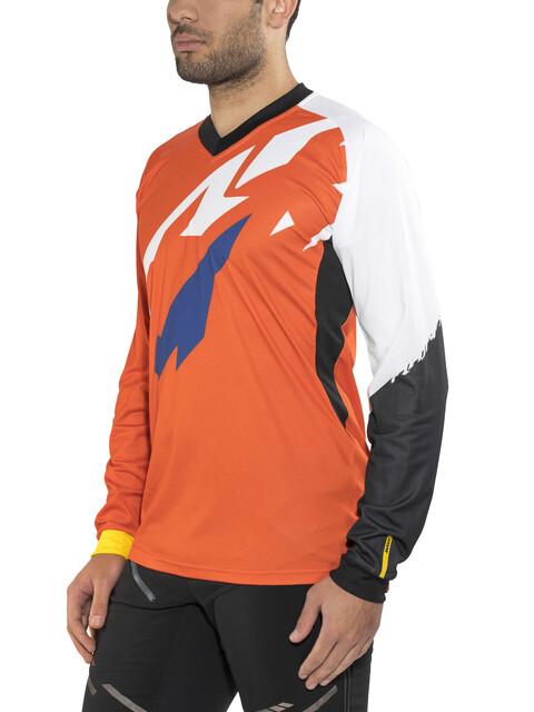 Mavic Crossmax Pro Koszulka kolarska, długi rękaw Mężczyźni pomarańczowy/biały